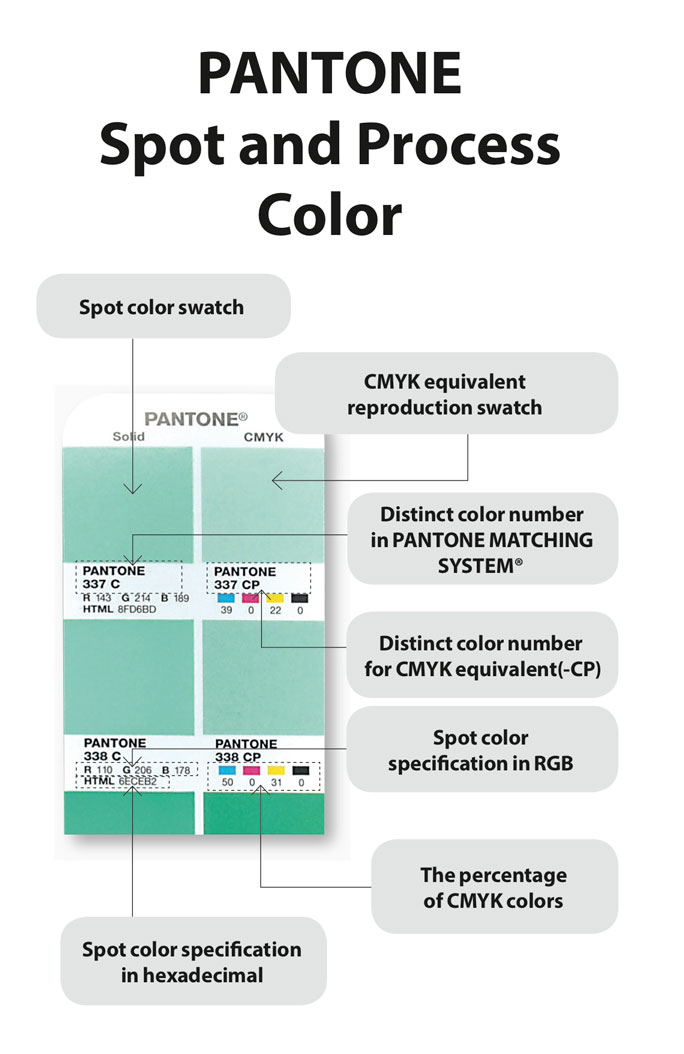 Pantone Spot Color and CMYK Color Comparison
