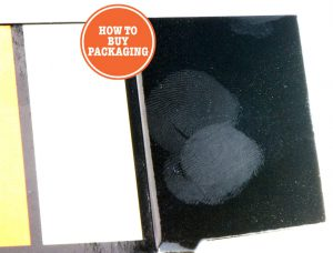 Fingerprints on High Gloss Folding Carton